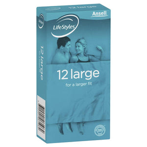 Ansell Lifestyles Condoms Large 12 Pack