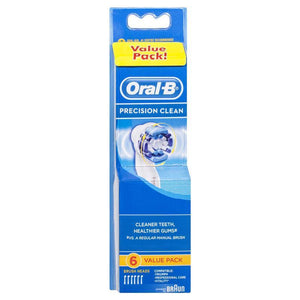 Oral-B Precision Clean Replacement Electric Toothbrush Heads Value 6 Pack