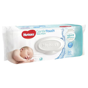 Huggies Gentle Touch Baby Wipes 80 Pack