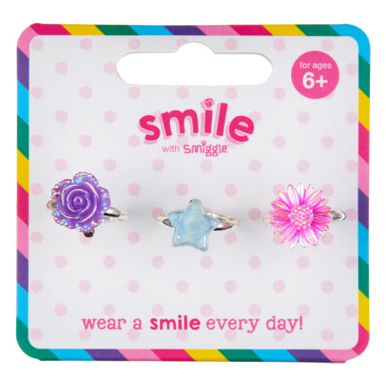Smile Shine Ring Pack X3 = MIX