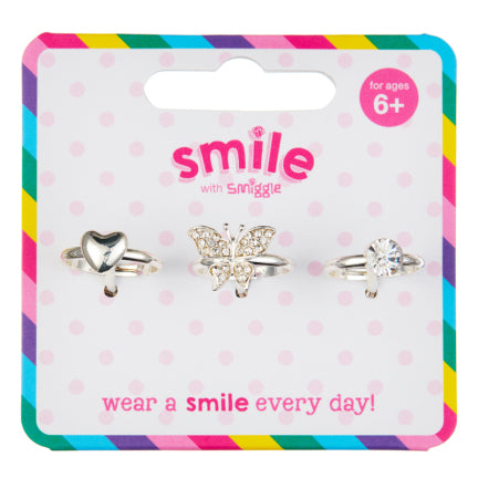 Smile Marley Ring Pack X3 = MIX