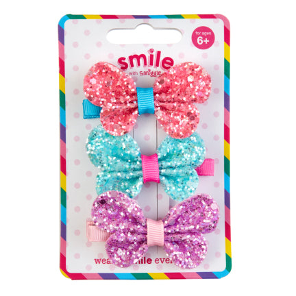 Smile Pretty Hair Clips Pack X3 = MIX