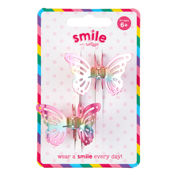 Smile Butterfly Hair Claw Pack X2 = MIX