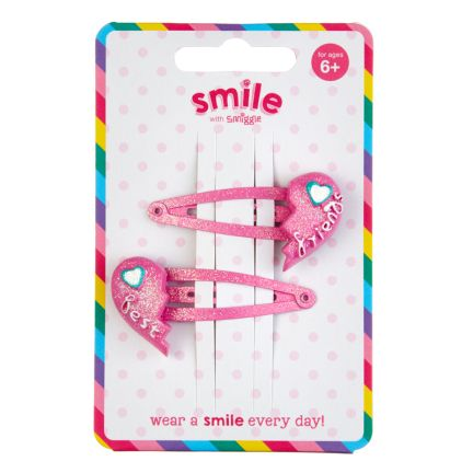 Smile Bff Hair Clips Pack X2 = MIX