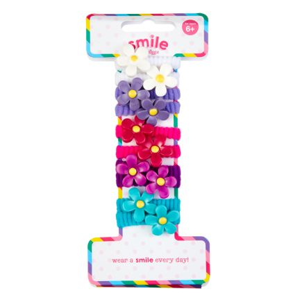 Smile Miss Daisy Hair Ties Pack X10 = MIX