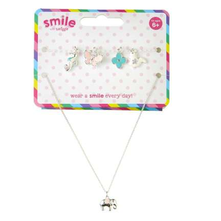 Smile Journey Charm Necklace = MIX