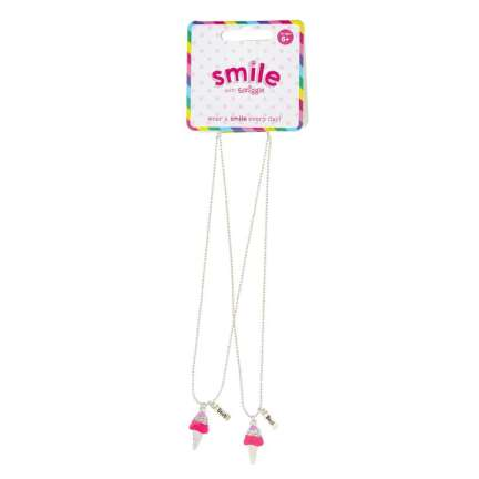 Smile Ice Cream Bff Necklace Pack X2 = MIX