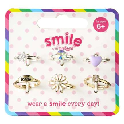 Smile Livvy Rings Pack X6 = MIX