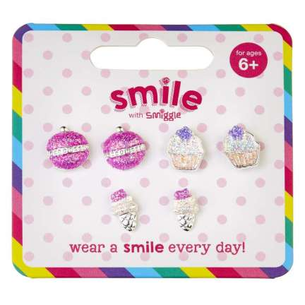 Smile Sweets Earrings Pack X 3 = MIX