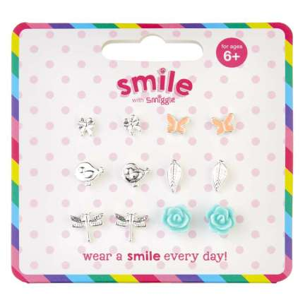 Smile Wild Earring Pack X 6 = MIX