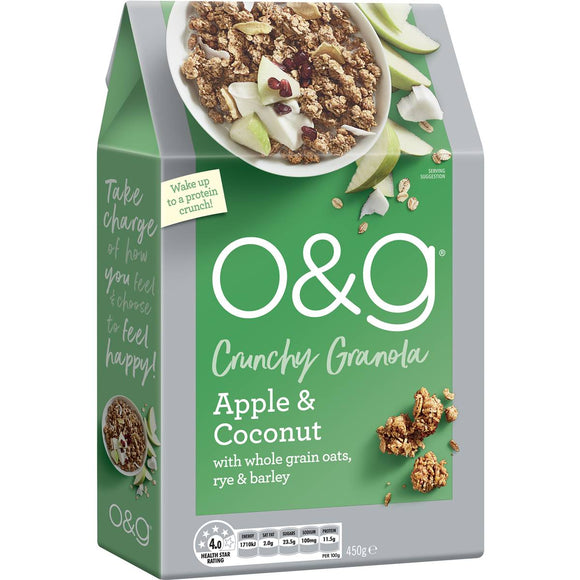 Uncle Tobys O&g Granola Apple Coconut & Quinoa 450g