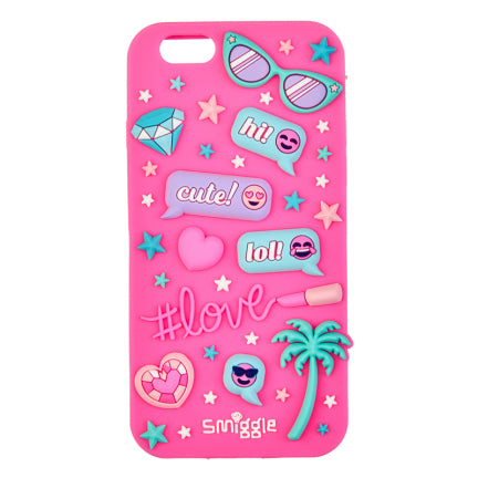 Stylin Silicone Phone Case - Iphone 6 = PINK