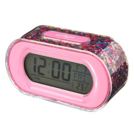 Time To Shine Clock = PINK