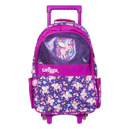 Cruise Light Up Trolley Bag = PURPLE