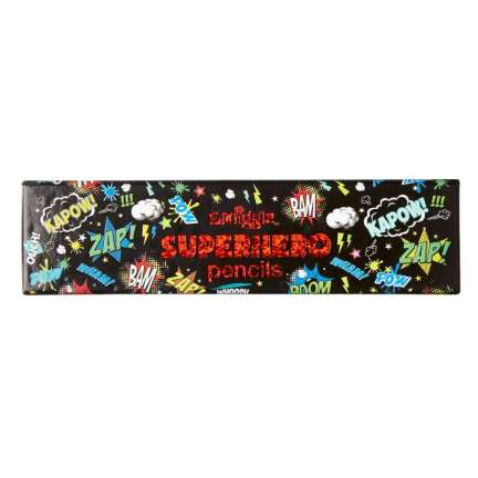 Super Hero Pencil Pack = BLACK