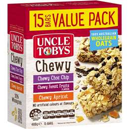 Uncle Tobys Muesli Bars Variety Pack 15 pack