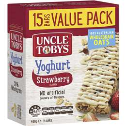 Uncle Tobys Yoghurt Muesli Bars Strawberry 469g