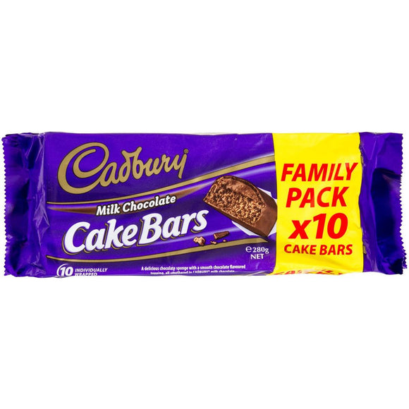 Cadbury Chocolate Cake Bar 10 pack