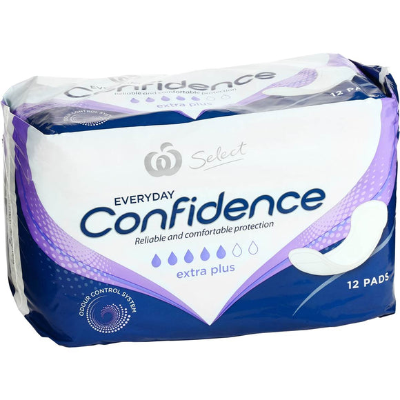 Woolworths Select Incontinence Extra Plus Pads 12 pack