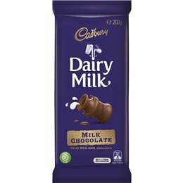 Cadbury Dairy Milk Chocolate Fair Trade 200g block