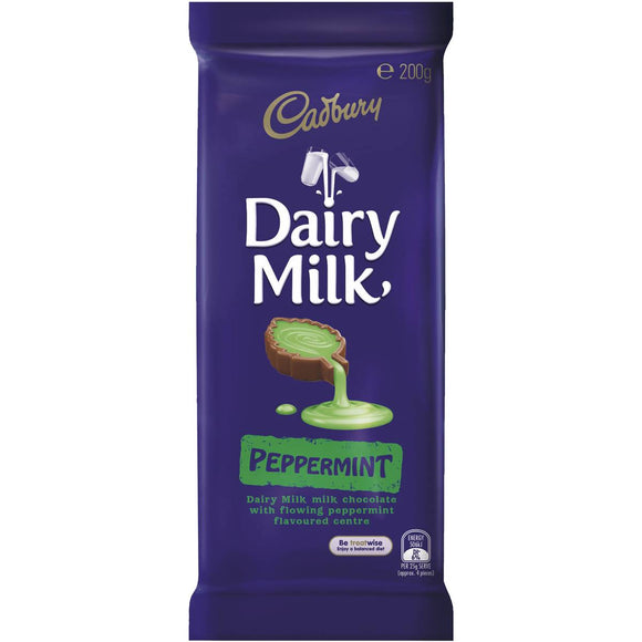 Cadbury Dairy Milk Chocolate Peppermint 200g block