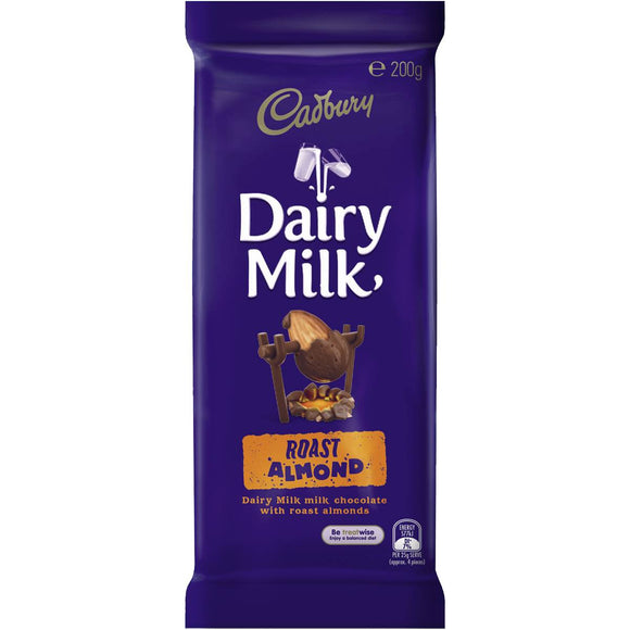Cadbury Dairy Milk Chocolate Roast Almond 200g block