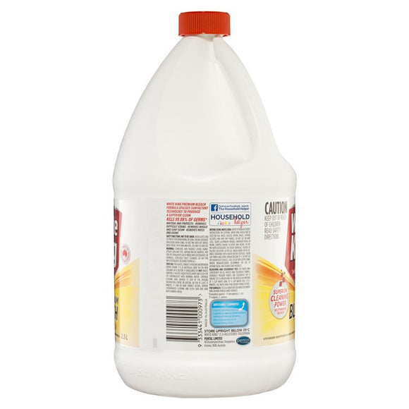 White King Bleach Lemon 2.5 Litre