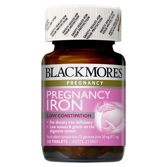 Blackmores Pregnancy Iron 30 Tablets