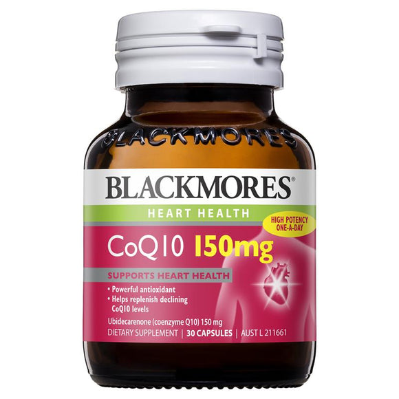 Blackmores CoQ10 150mg High Potency 30 Capsules