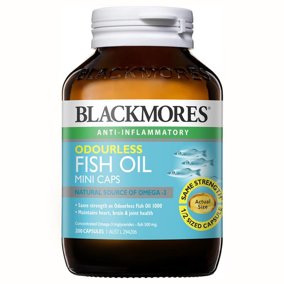 Blackmores Odourless Fish Oil 200 Mini Capsules