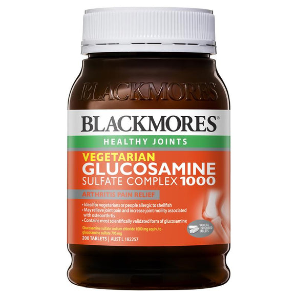 Blackmores Vegetarian Glucosamine Complex 1000mg 200 Tablets