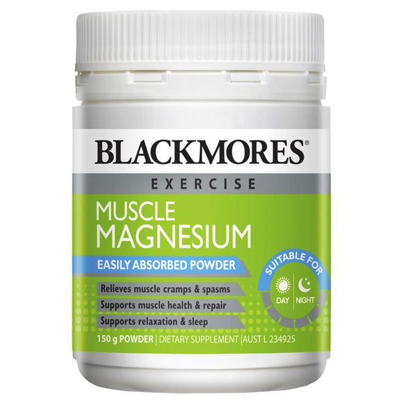 Blackmores Pure Muscle Magnesium 150g Powder