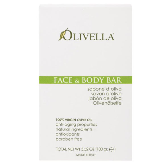 Olivella Face & Body Bar Fragrance Free 100g
