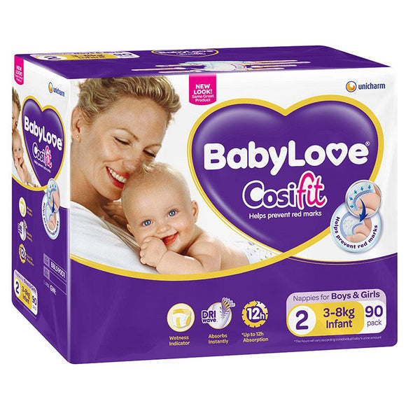 Babylove Cosifit Jumbo Nappies Infant 90