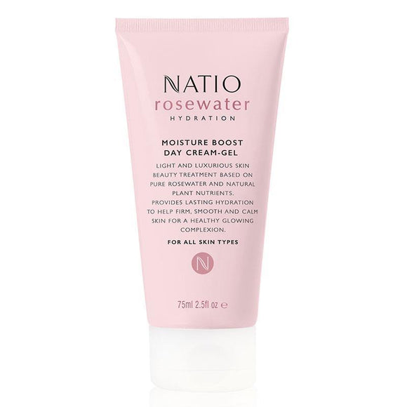 Natio Rosewater Hydration Moisture Boost Day Cream Gel 75ml Online Only