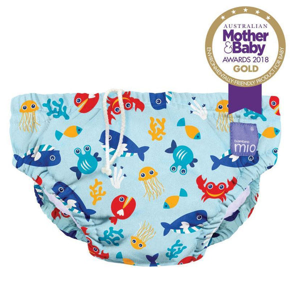 Bambino Mio Reusable Swim Nappy Deep Sea Blue Extra Large (2+ Years)