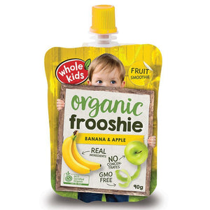 Whole Kids Organic Frooshie Fruit Banana & Apple 90g