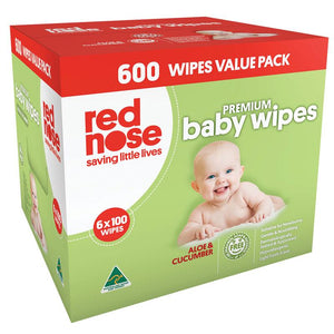 Red Nose Baby Wipes Aloe And Cucumber 6x100 Wipes