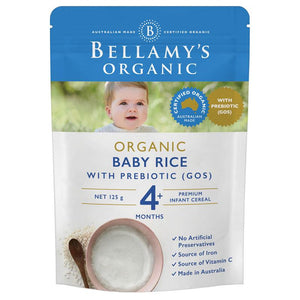 Bellamy's Organic Baby Rice with Prebiotic 125g