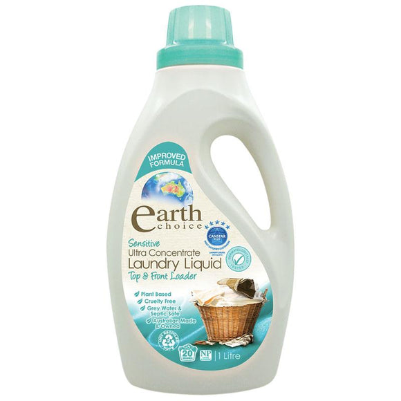 Earth Choice Laundry Liquid Ultra Concentrate Sensitive 1 Litre