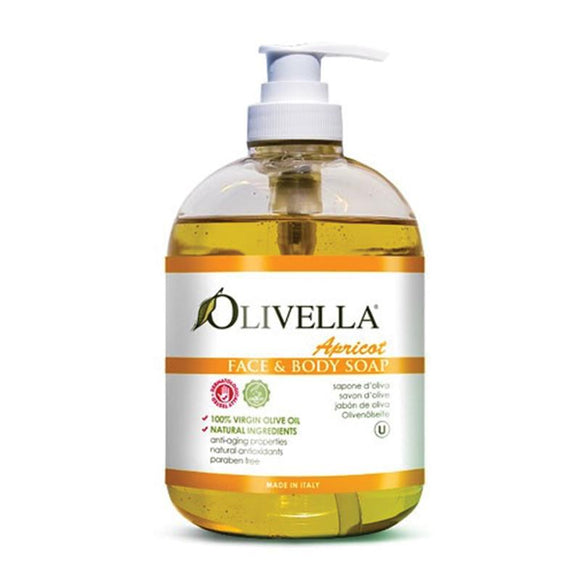 Olivella Apricot Face & Body Soap 500ml
