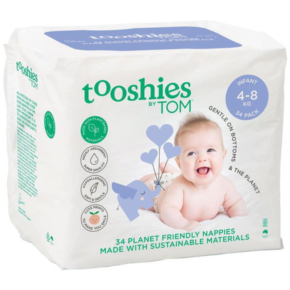 Tooshies by TOM Nappies Infant 34 Pack
