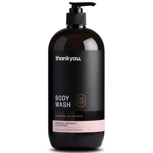 Thankyou Botanical Geranium & Rosewood Body Wash 1L