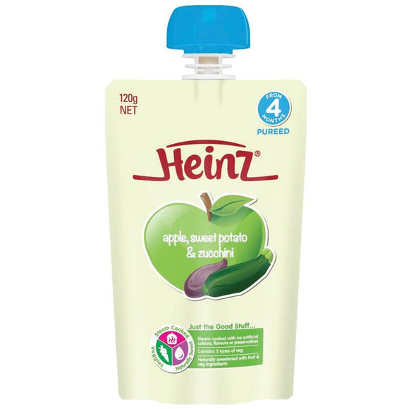 Heinz Apple Sweet Potato & Zucchini Pouch 120g 4m+
