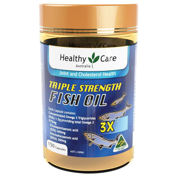 Healthy Care Triple Strength Fish Oil 150 Capsules