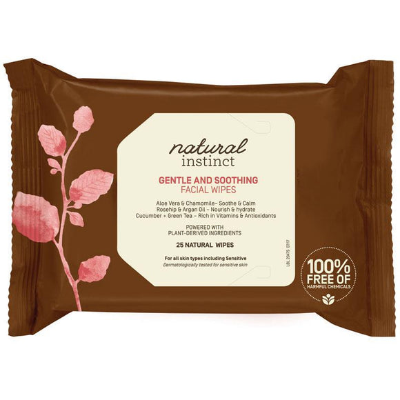 Natural Instinct Hydrating Cleansing Facial Wipes 25