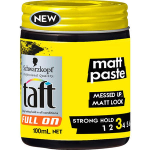 Taft Full On Matt Paste 100ml