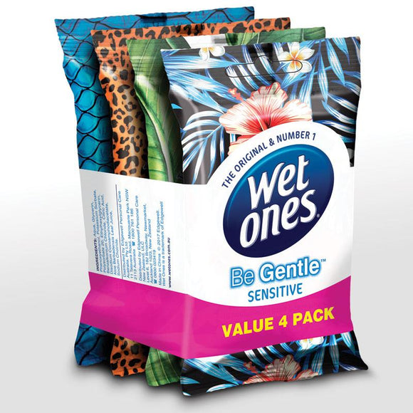 Wet Ones Be Gentle Sensitive Value 4 Pack