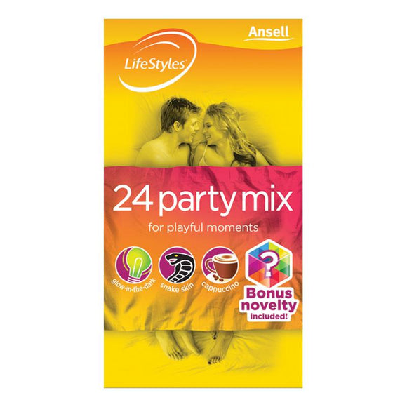 LifeStyles Party Mix Condoms 24 Pack