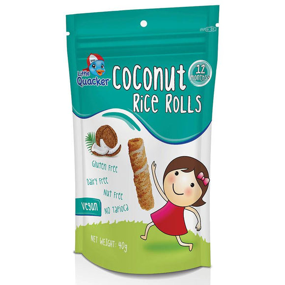 Little Quacker Coconut Rice Rolls Original 40g